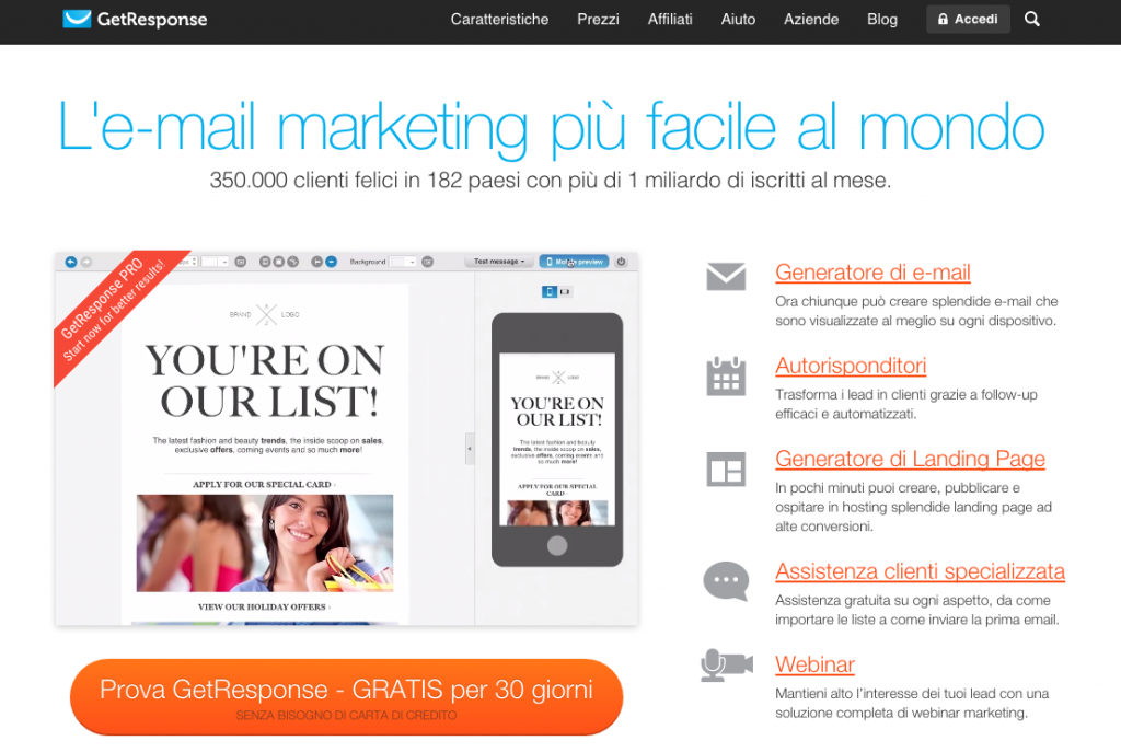 email marketing getresponse