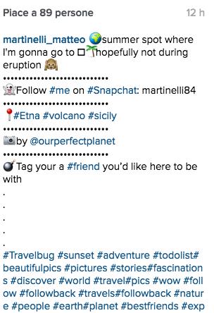 testo delle descrizioni instagram
